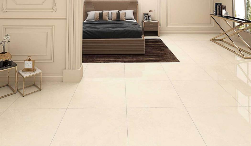 boom ceramic , Porcelain Ceramic Aragon Design , Cream Stone texture , Full Polish Flat in size 80*80