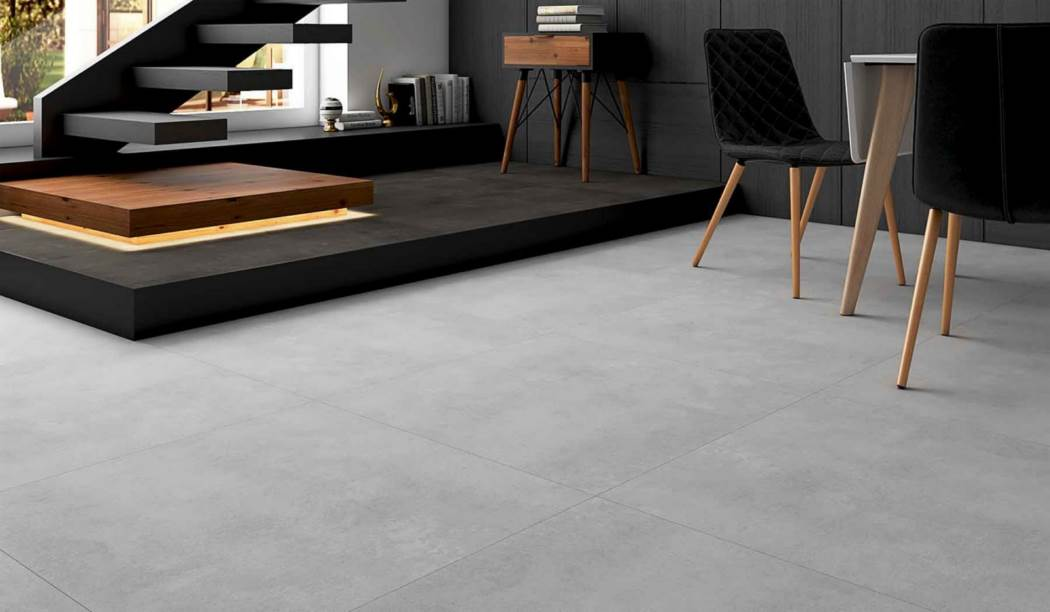 boom ceramic , Porcelain Ceramic Design Ariana , Light Gray Cement texture , Matt Flat in size 80*80