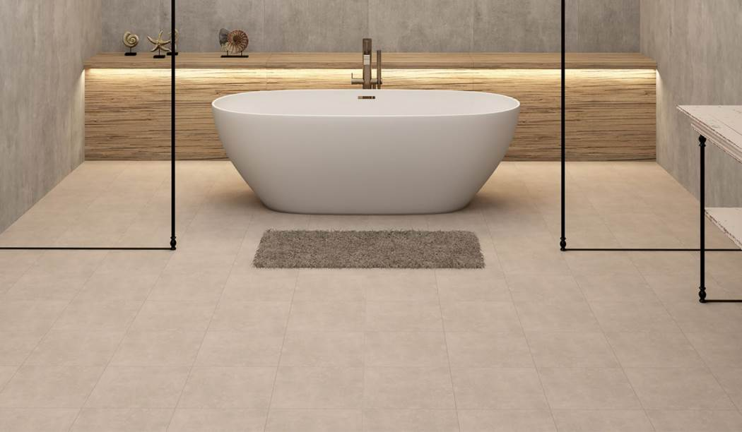 wall tile and floor tile , boom ceramic ، Floor Tile Design Arvin Cream Size 30*30 glaze Matt Flat with Base Cement