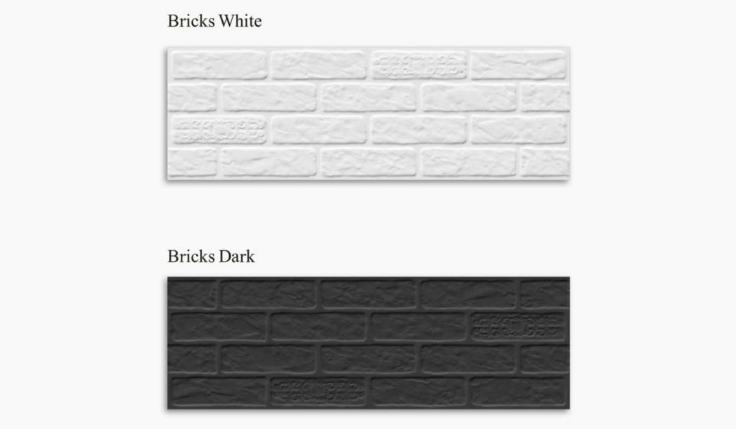 wall tile and floor tile , boom ceramic ، Wall Tile Collective Bricks Graphite Size 90*30 glaze Matt Punch Deep with Base Bricks