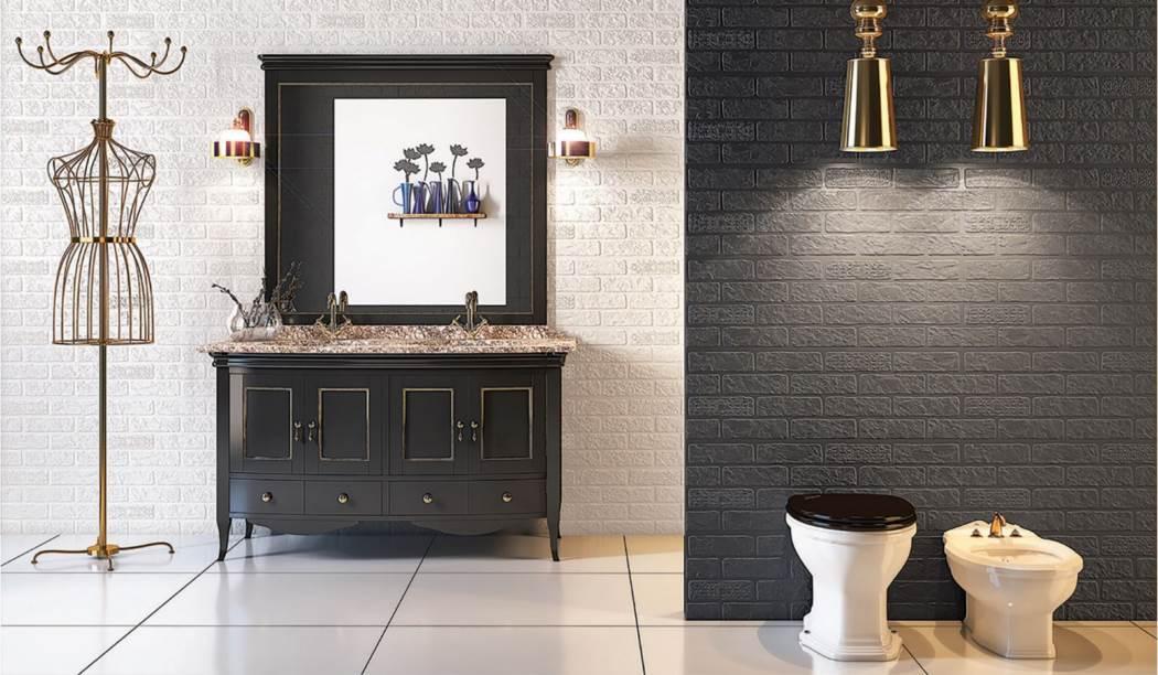 wall tile and floor tile , boom ceramic ، Wall Tile Design Bricks Graphite Size 90*30 glaze Matt Punch Deep with Base Bricks