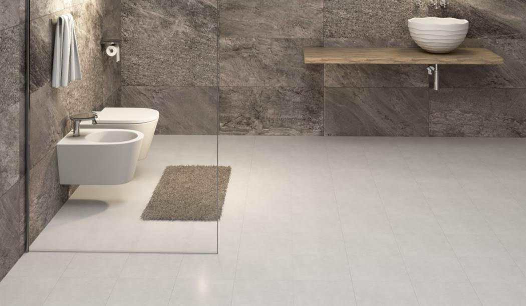 wall tile and floor tile , boom ceramic ، Floor Tile Design Dian Gray Size 30*30 glaze Matt Flat with Base Cement