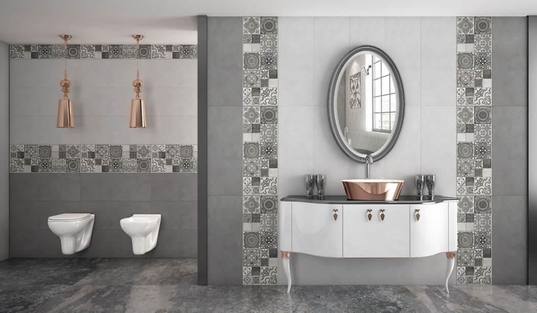 wall tile and floor tile , boom ceramic ، Wall Tile Design Fider Gray Size 75*30 glaze Matt with Base Cement