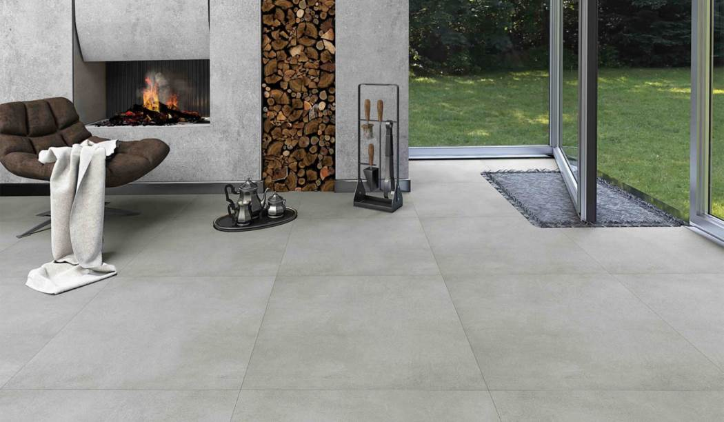 boom ceramic , Porcelain Ceramic Design Karma , Gray Cement texture , Matt Flat in size 80*80