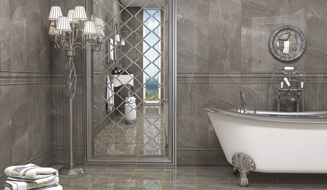 boom ceramic , Floor Ceramic Design Lafanzo , Gray Stone texture , Coating Polish Flat in size 30*30