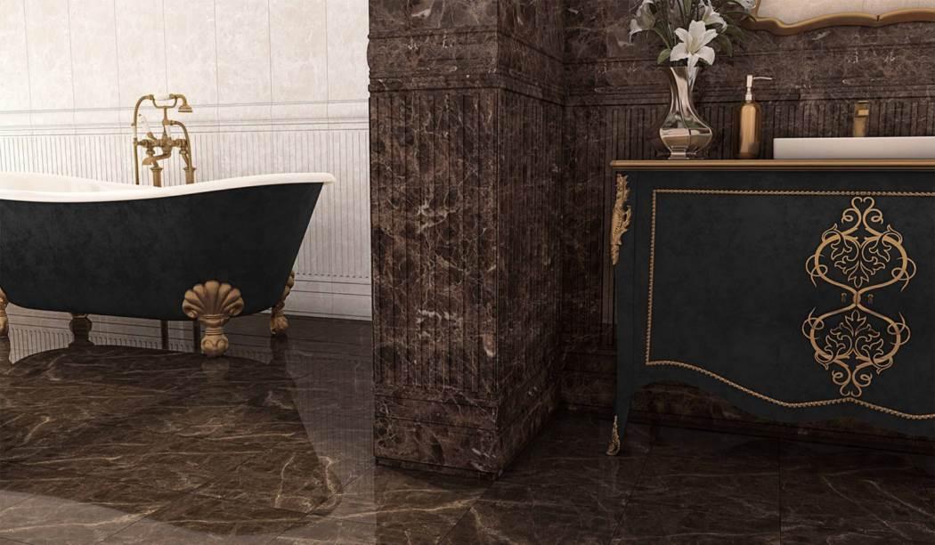 boom ceramic , Porcelain Ceramic Megano Floor Design , Brown Stone texture , Full Polish Flat in size 30*30