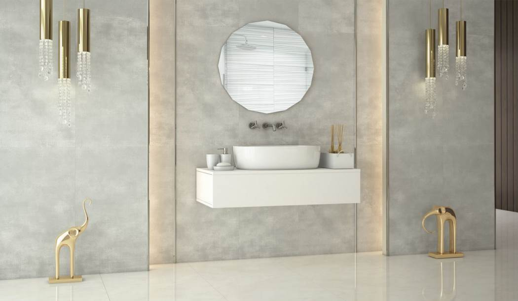 wall tile and floor tile , boom ceramic ، Porcelain Ceramics Design Parana Light Gray Size 120*60 glaze Matt Flat with Base Cement
