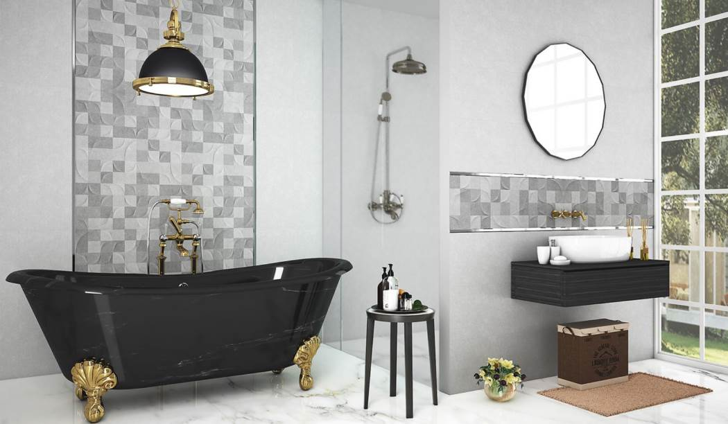 wall tile and floor tile , boom ceramic ، Wall Tile Design Parma Gray Size 90*30 glaze Matt with Base Cement