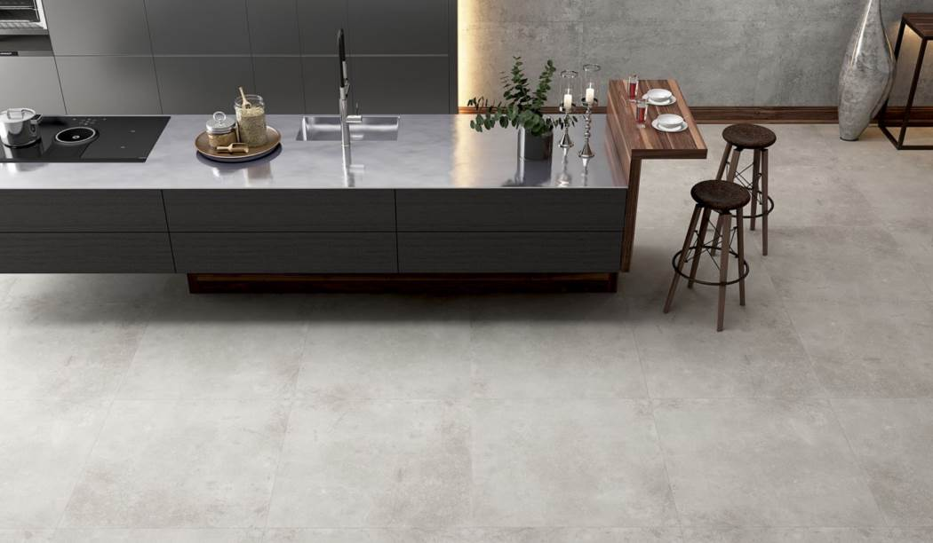 Tile & Ceramic Boom Ceramic ، Porcelain Ceramic Gray Platform Design Gray Size 80 * 80 With Glaze Matt Flat With Base Cement