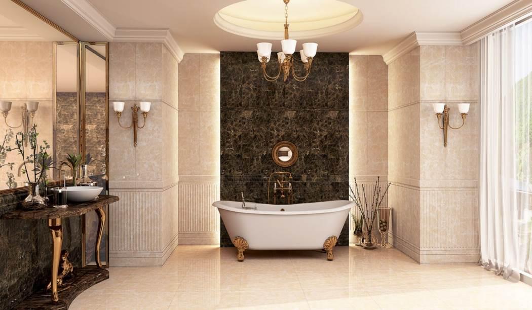 wall tile and floor tile , boom ceramic ، Wall Tile Design Alvarita Cream Cream Size 90*30 glaze Glossy with Base Stone