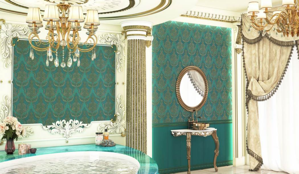 wall tile and floor tile , boom ceramic ، Wall Tile Design Arizo Blue Size 100*33 glaze Matt Suger Effect 3rd Fire Decor with Base Wall Paper