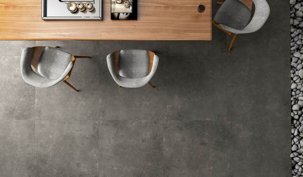 Tile & Ceramic Boom Ceramic ، Porcelain Ceramic Graphite Platform Design Graphite Size 80 * 80 With Glaze Matt Flat With Base Cement