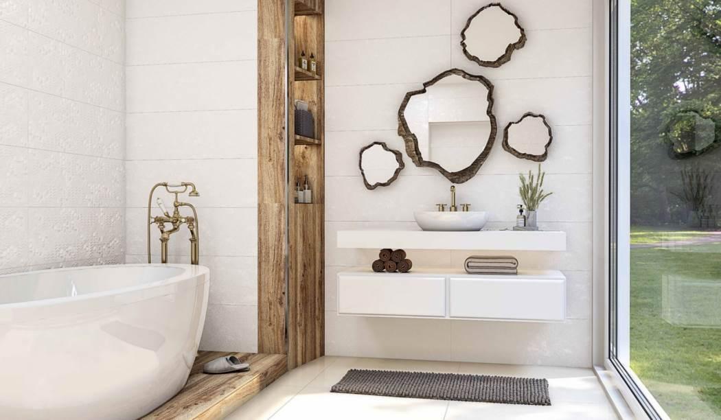 boom ceramic , Wall Tile Sidulf Design , White Cement texture , Matt Rustic in size 90*30