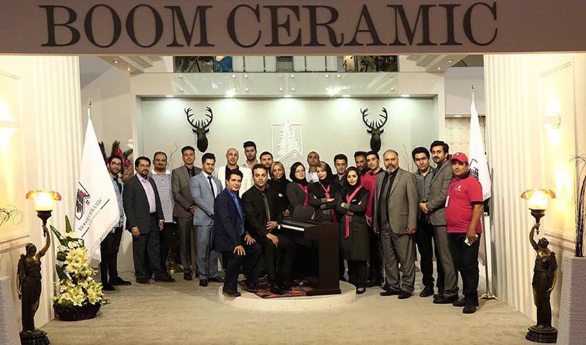 Tiles, ceramics and sanitary ware international expo in the year 2017 took place in Tehran International Exhibition Center.