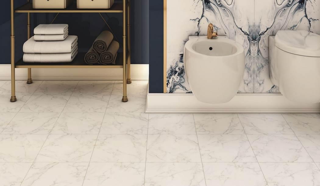 کاشی و سرامیک بوم سرامیک ، سرامیک کف طرح آلوینو سفید سایز 30 * 30 لعاب مات صاف با زمینه سنگی