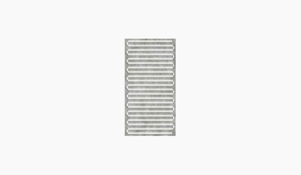 کاشی و سرامیک بوم سرامیک ، کاشی دیوار آنیکا دکور طوسی سایز 60*30 لعاب مات پانچ با زمینه سیمانی