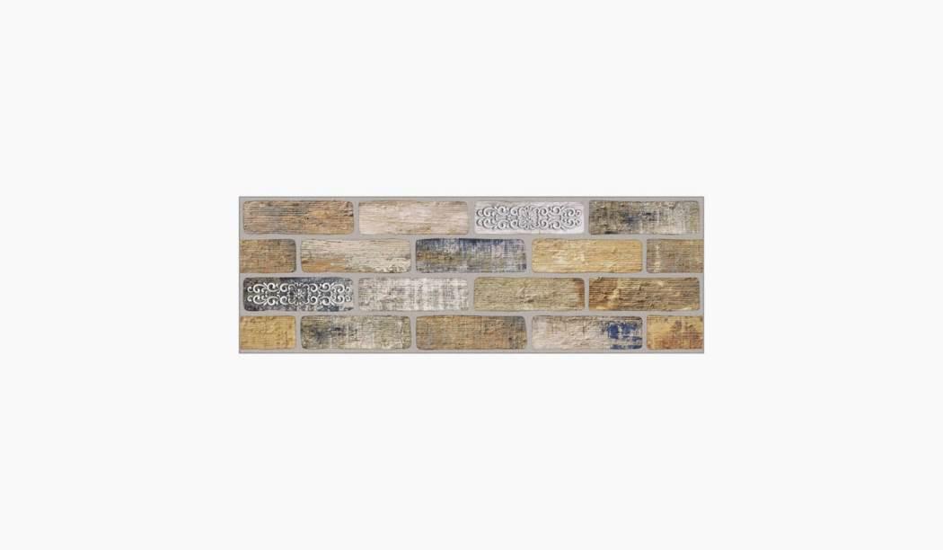 کاشی و سرامیک بوم سرامیک ، کاشی دیوار آجری سفید سایز 90 * 30 لعاب مات پانچ عمیق با زمینه آجری