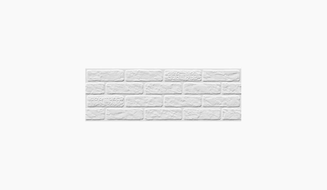 کاشی و سرامیک بوم سرامیک ، کاشی دیوار آجری سفید سایز 90*30 لعاب مات پانچ عمیق با زمینه آجری