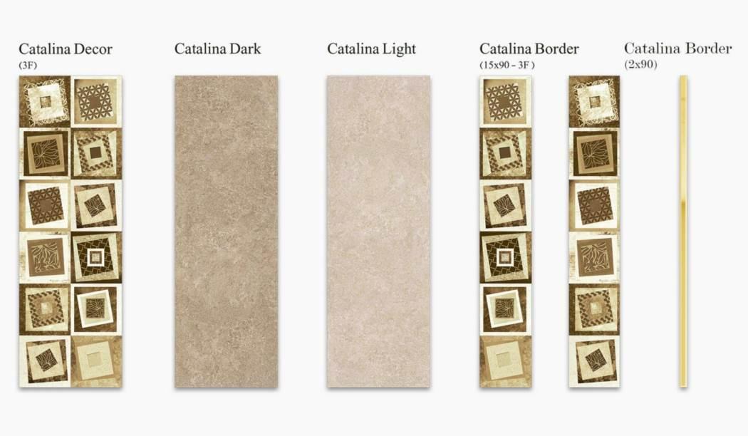 کاشی و سرامیک بوم سرامیک ، کاشی دیوار مجموعه کاتالینا کرم سایز 90*30 لعاب مات با زمینه سیمانی