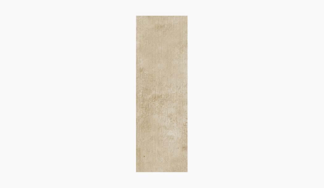 کاشی و سرامیک بوم سرامیک ، کاشی دیوار کلاسیکو کرم تیره سایز 90*30 لعاب مات رستیک با زمینه سیمانی
