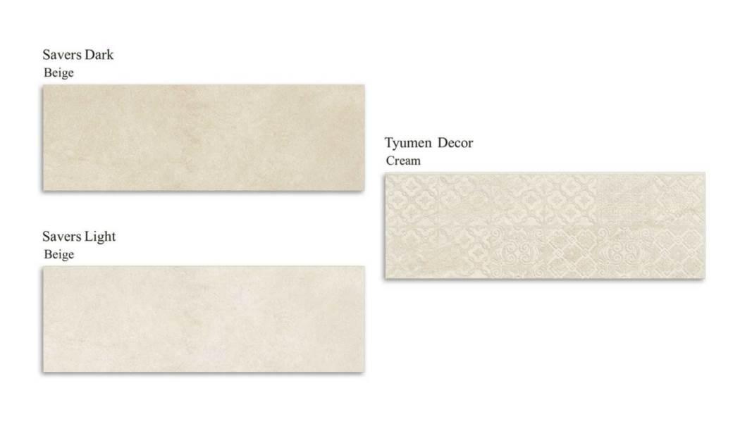 کاشی و سرامیک بوم سرامیک ، کاشی دیوار مجموعه تیومن کرم کرم سایز 30*90 لعاب مات صاف با زمینه سیمانی