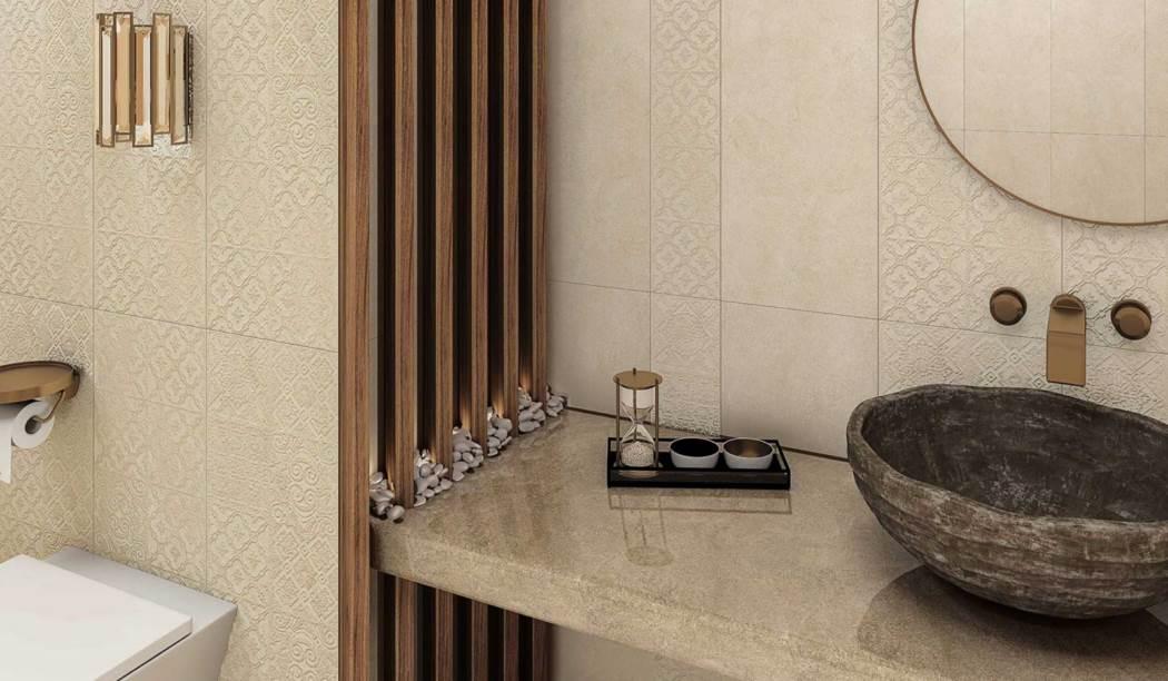 کاشی و سرامیک بوم سرامیک ، سرامیک پرسلان طرح رادا بژ سایز 80*80 لعاب مات صاف با زمینه سیمانی