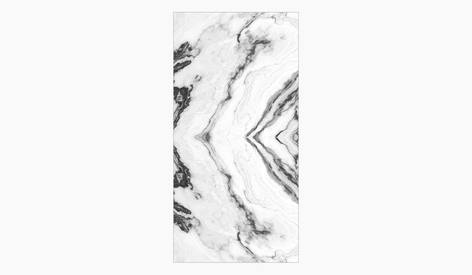 کاشی و سرامیک بوم سرامیک ، سرامیک پرسلان فسیل سفید سایز 60*120 لعاب فول پولیش صاف با زمینه سنگ