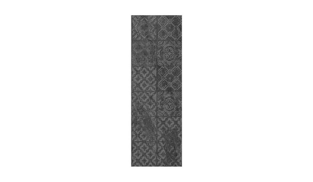 کاشی و سرامیک بوم سرامیک ، کاشی دیوار دکور تیومن طوسی تیره سایز 30*90 لعاب مات رستیک با زمینه سیمانی