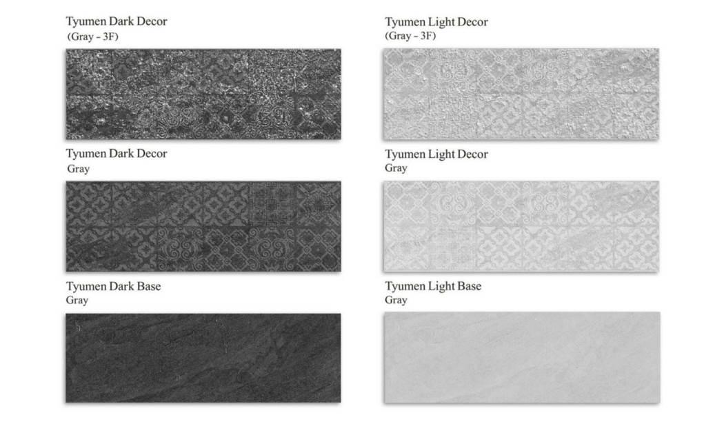 کاشی و سرامیک بوم سرامیک ، کاشی دیوار مجموعه تیومن طوسی طوسی سایز 30*90 لعاب مات صاف با زمینه سیمانی