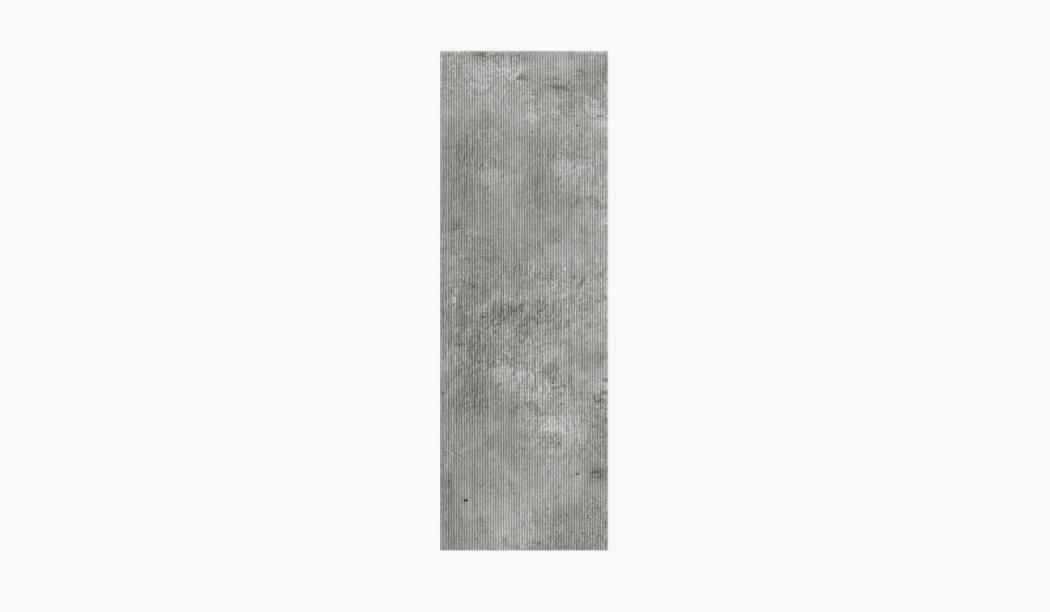 کاشی و سرامیک بوم سرامیک ، کاشی دیوار کلاسیکو طوسی تیره سایز 90*30 لعاب مات رستیک با زمینه سیمانی