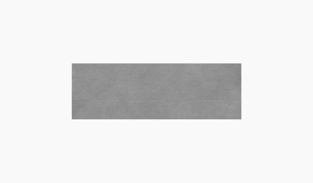 کاشی و سرامیک بوم سرامیک ، کاشی دیوار سیدولف طوسی تیره سایز 30*90 لعاب مات رستیک با زمینه سیمانی