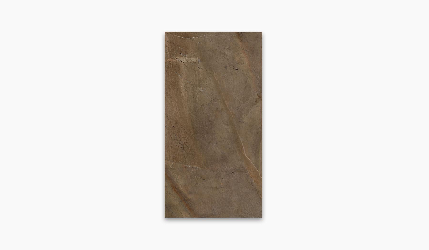 کاشی و سرامیک بوم سرامیک ، کاشی دیوار مانیس قهوه ای سایز 30*60 لعاب براق صاف با زمینه سنگ
