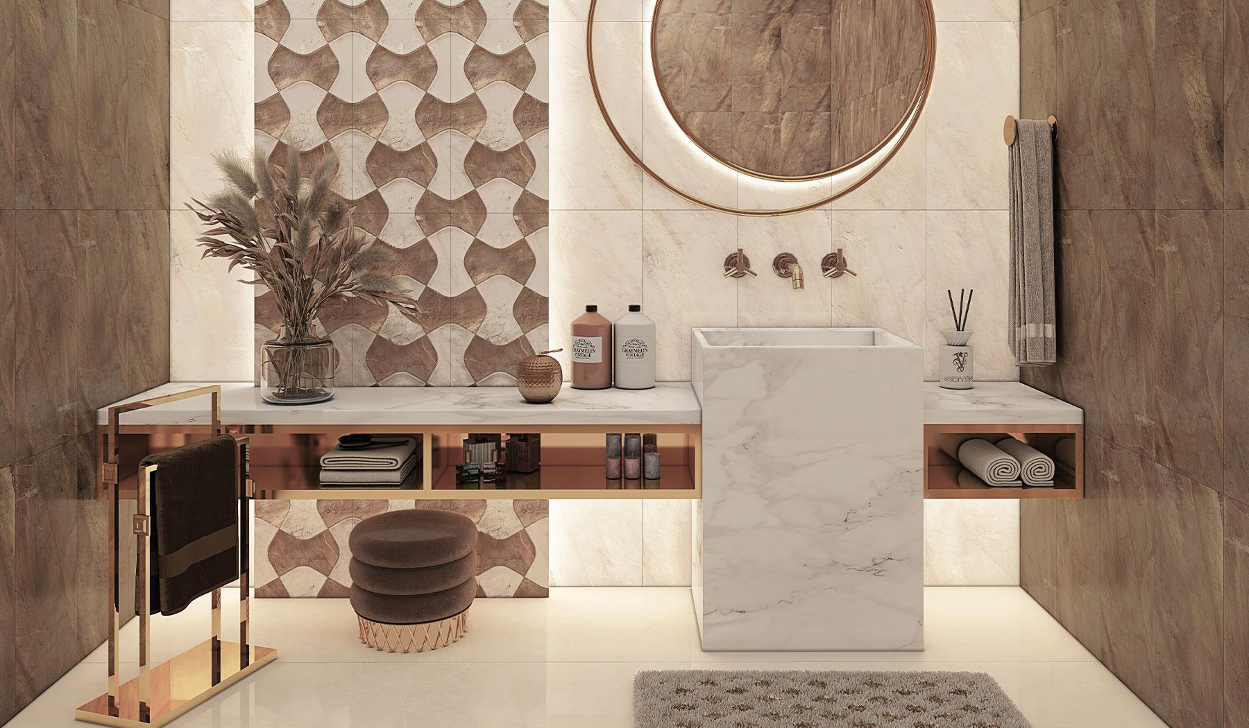کاشی و سرامیک بوم سرامیک ، کاشی دیوار طرح مانیس کرم قهوه ای سایز 30*60 لعاب براق صاف با زمینه سنگ