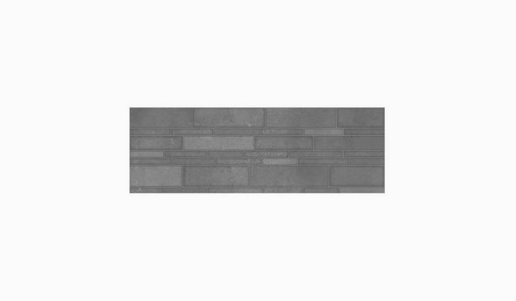 کاشی و سرامیک بوم سرامیک ، کاشی دیوار نیوتراوین دکور طوسی سایز 90 * 30 لعاب پانچ مات پانچ عمیق با زمینه سیمانی