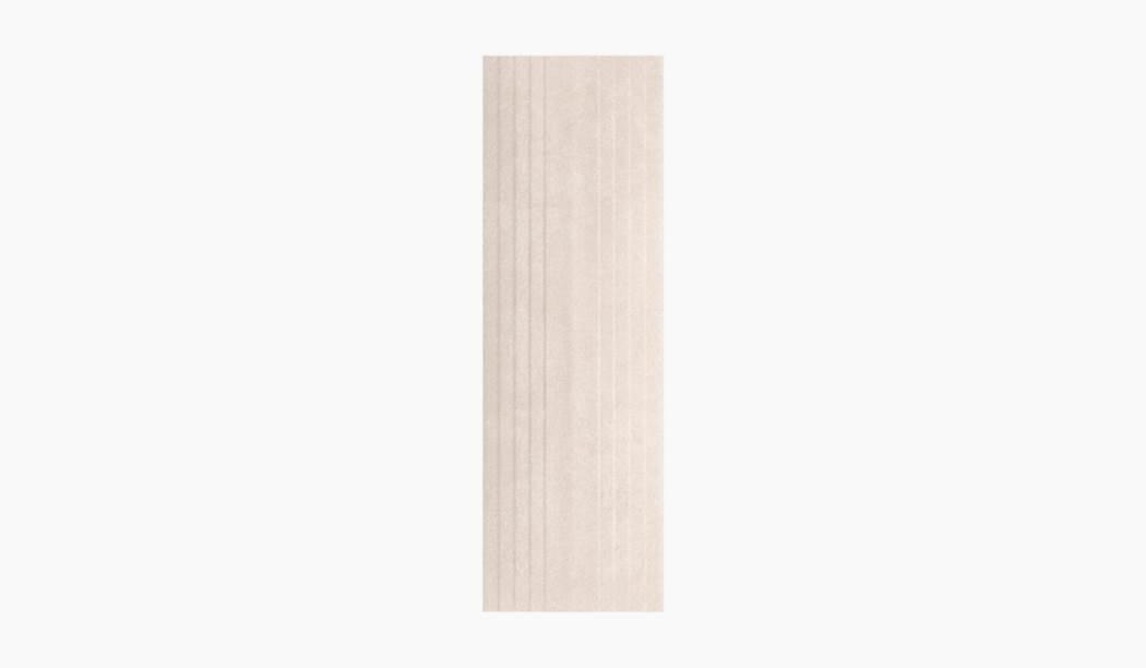 کاشی و سرامیک بوم سرامیک ، کاشی دیوار پارسیلا دکور کرم تیره سایز 90*30 لعاب مات پانچ با زمینه سیمانی