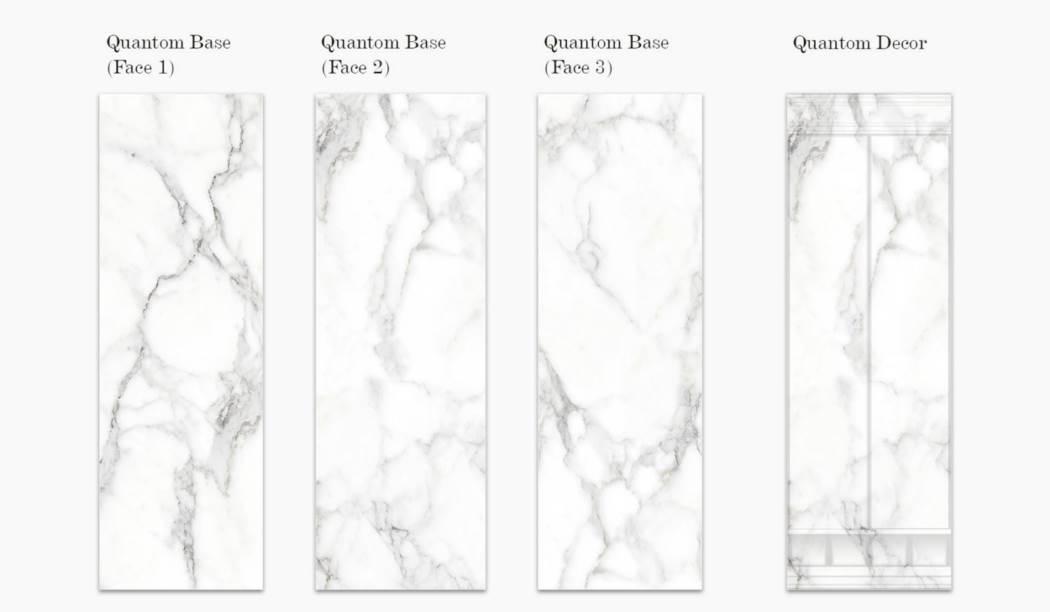 کاشی و سرامیک بوم سرامیک ، کاشی دیوار مجموعه کوآنتوم سفید سایز 100*33 لعاب براق با زمینه سنگی