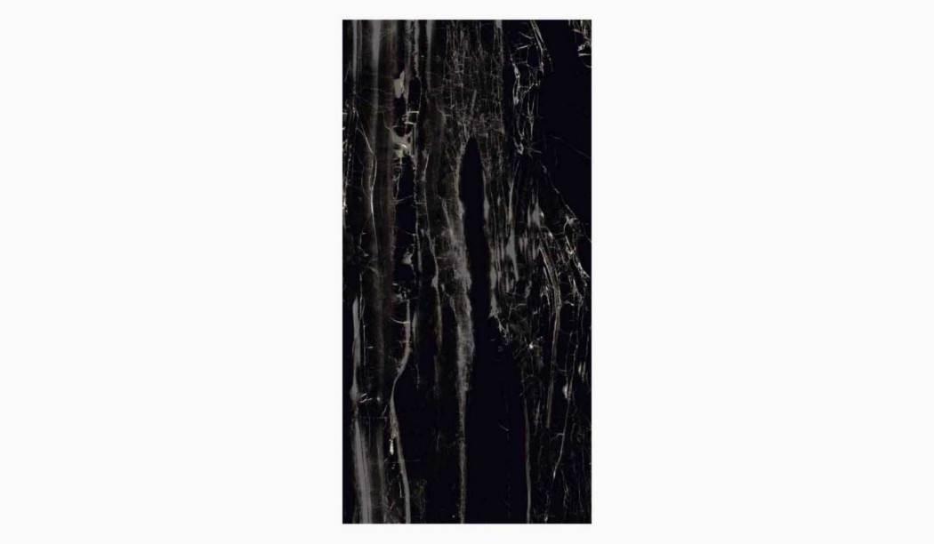 کاشی و سرامیک بوم سرامیک ، سرامیک پرسلان ساحارا مشکی سایز 60*120 لعاب فول پولیش صاف با زمینه سنگ