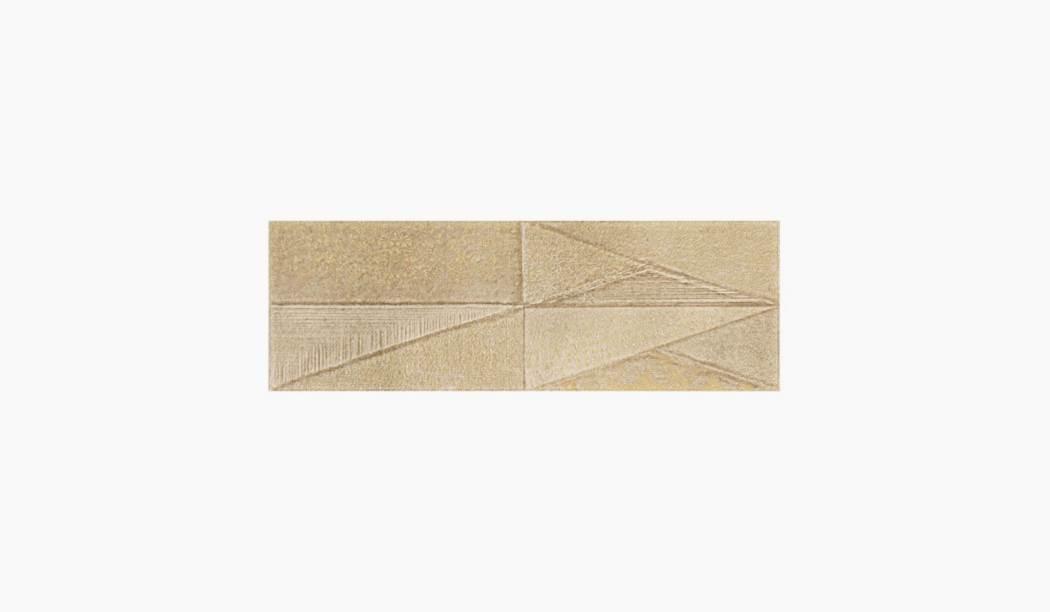 کاشی و سرامیک بوم سرامیک ، دکوراتیو سالسا دکور بژ سایز 90 * 30 لعاب پانچ براق پخت سوم با زمینه سیمانی