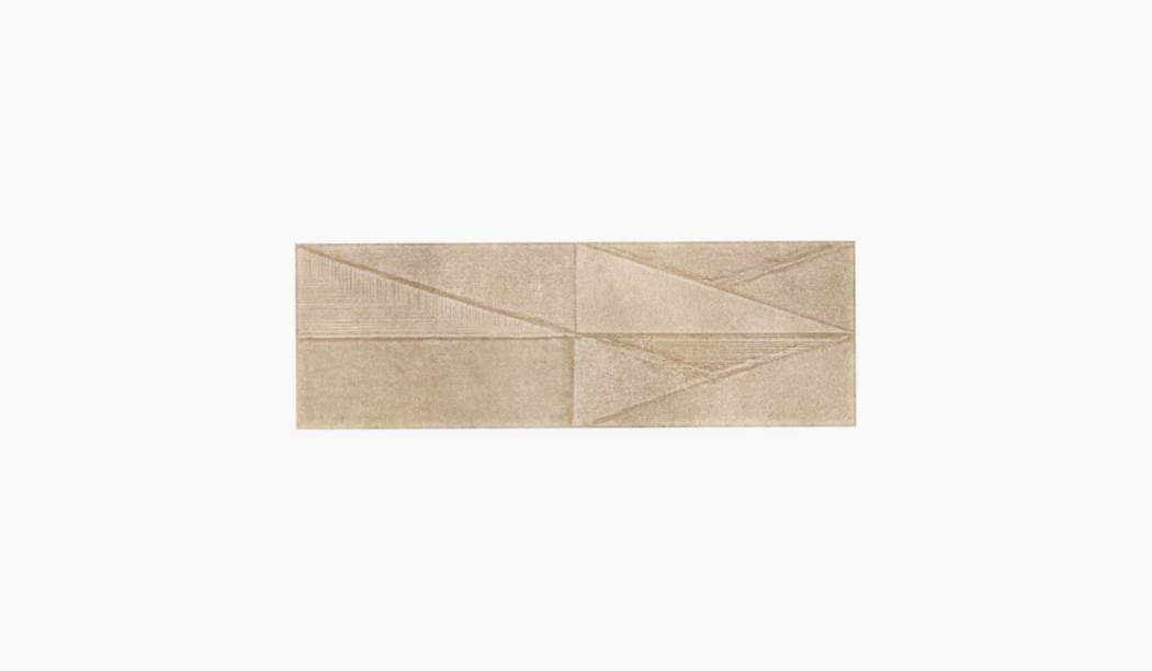 کاشی و سرامیک بوم سرامیک ، کاشی دیوار سالسا دکور گل بژ سایز 90 * 30 لعاب نیمه مات پانچ عمیق با زمینه سیمانی