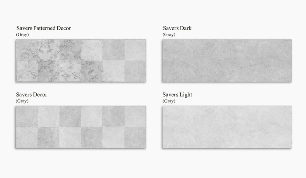 کاشی و سرامیک بوم سرامیک ، کاشی دیوار مجموعه ساورز طوسی سایز 30*90 لعاب مات پانچ با زمینه سیمانی
