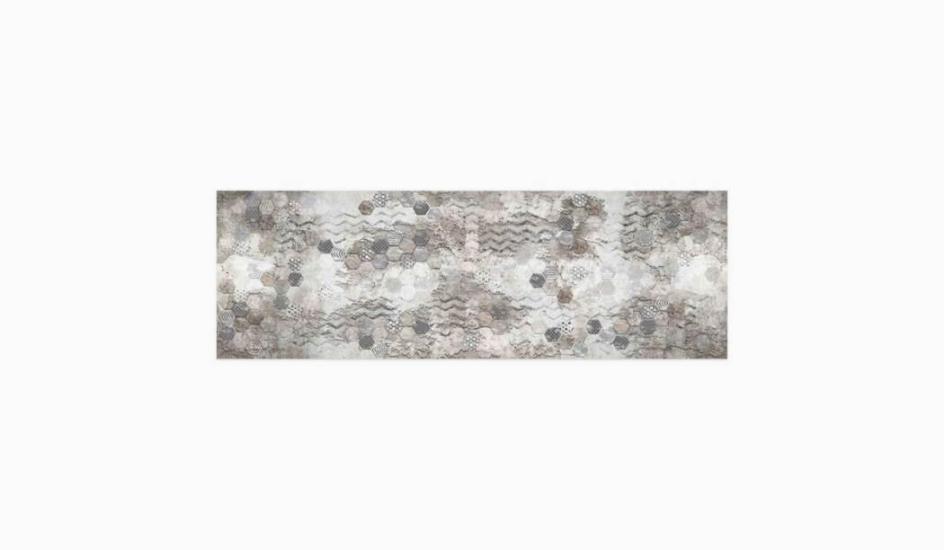 کاشی و سرامیک بوم سرامیک ، کاشی دیوار دکور سیدولف طوسی سایز 30*90 لعاب پانچ مات پخت سوم با زمینه فانتزی