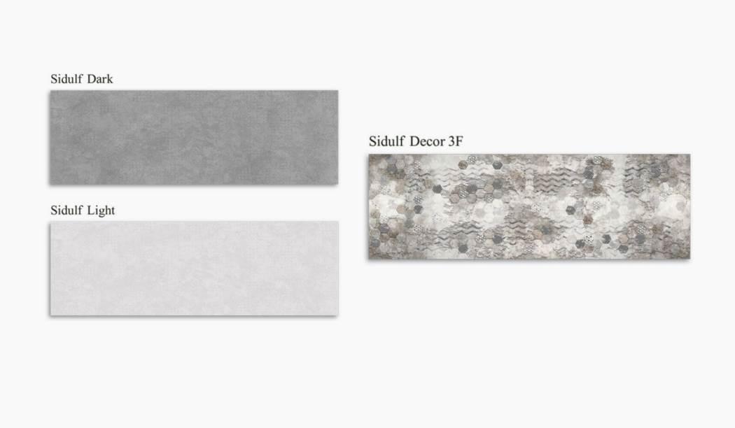 کاشی و سرامیک بوم سرامیک ، کاشی دیوار مجموعه سیدولف طوسی سایز 30*90 لعاب مات رستیک با زمینه سیمانی