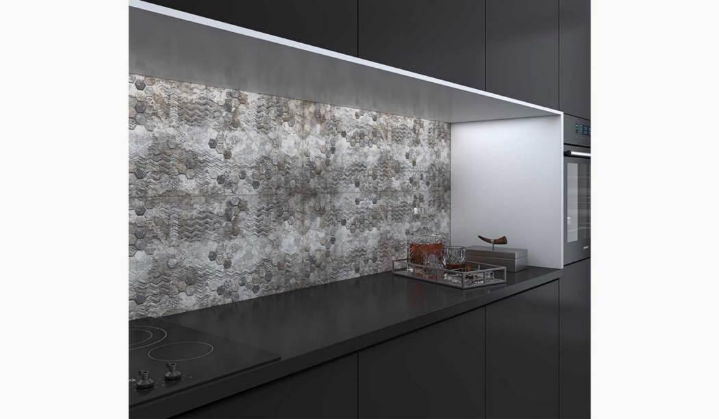 کاشی و سرامیک بوم سرامیک ، کاشی دیوار طرح سیدولف طوسی سایز 30*90 لعاب مات رستیک با زمینه سیمانی