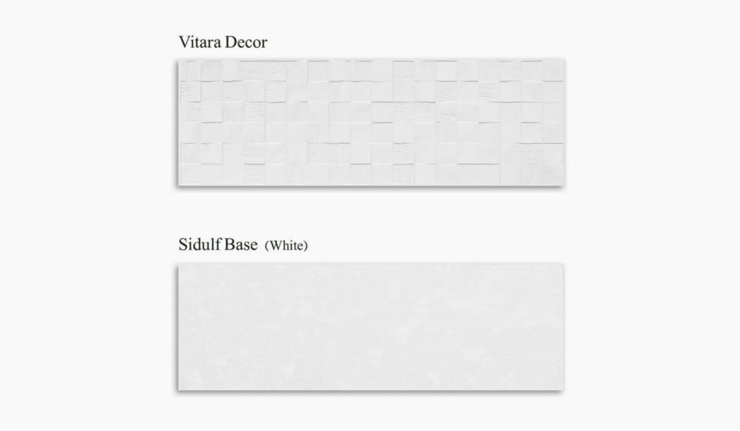 کاشی و سرامیک بوم سرامیک ، کاشی دیوار مجموعه ویتارا طوسی سایز 30*90 لعاب مات پانچ با زمینه سیمانی