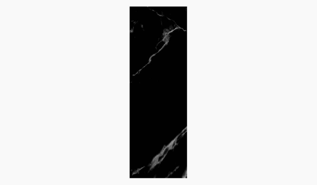 کاشی و سرامیک بوم سرامیک ، کاشی دیوار آلامبرا (طرح1) مشکی سایز 100*33 لعاب براق صاف با زمینه سنگی