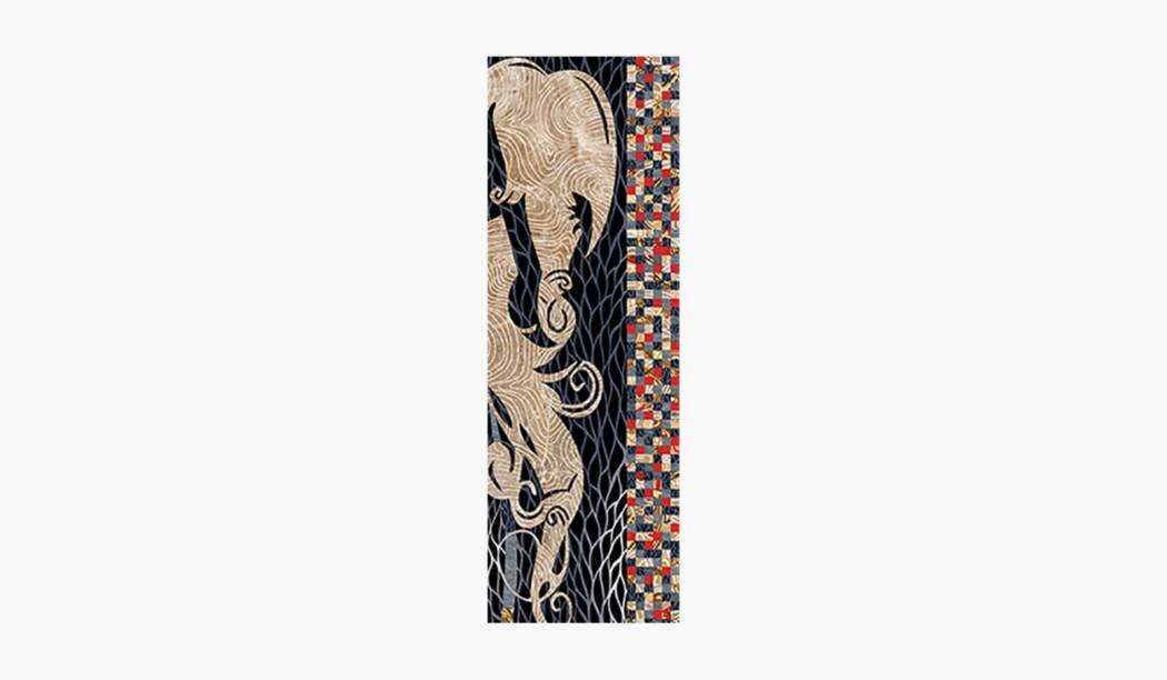 کاشی و سرامیک بوم سرامیک ، کاشی دیوار الکساندرا دکور (طرح2) رنگارنگ سایز 90*30 لعاب رستیک مات پخت سوم با زمینه آبرنگی