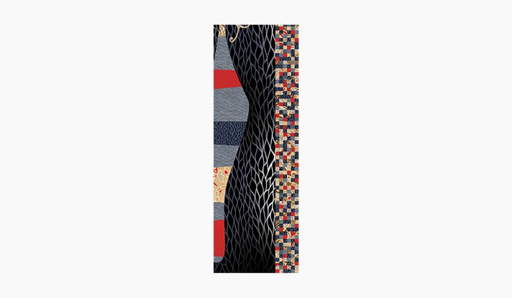 کاشی و سرامیک بوم سرامیک ، کاشی دیوار الکساندرا دکور (طرح4) رنگارنگ سایز 90*30 لعاب رستیک مات پخت سوم با زمینه آبرنگی