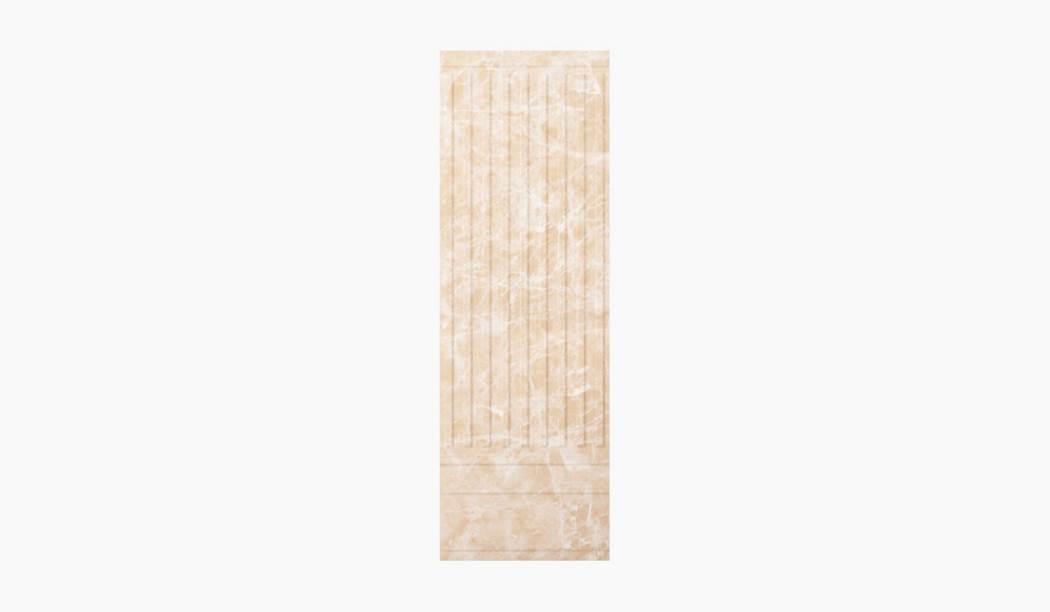 کاشی و سرامیک بوم سرامیک ، کاشی دیوار آلواریتا دکور ستونی کرم سایز 90*30 لعاب براق پانچ با زمینه سنگی