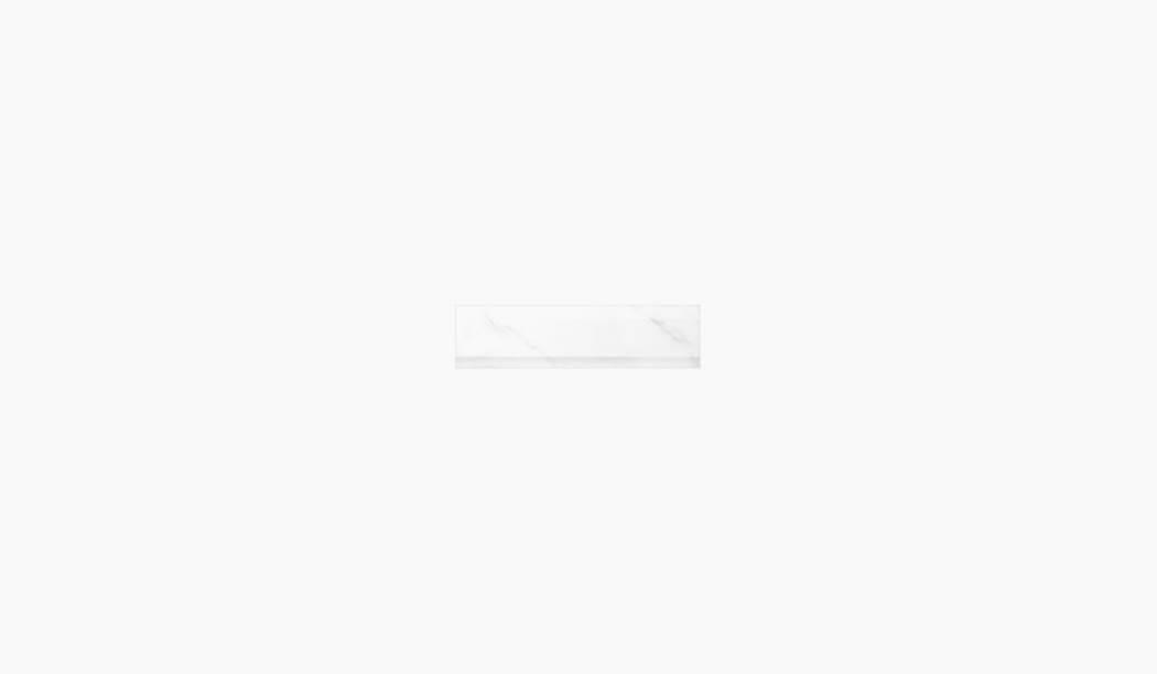 کاشی و سرامیک بوم سرامیک ، کاشی دیوار آلوینو باند سفید سایز 30*10 لعاب براق پانچ با زمینه سنگی