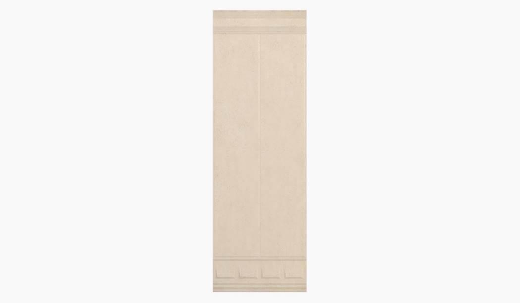 کاشی و سرامیک بوم سرامیک ، کاشی دیوار آریزو دکور ستونی بژ سایز 100*33 لعاب مات شوگر افکت پانچ با زمینه کاغذ دیواری
